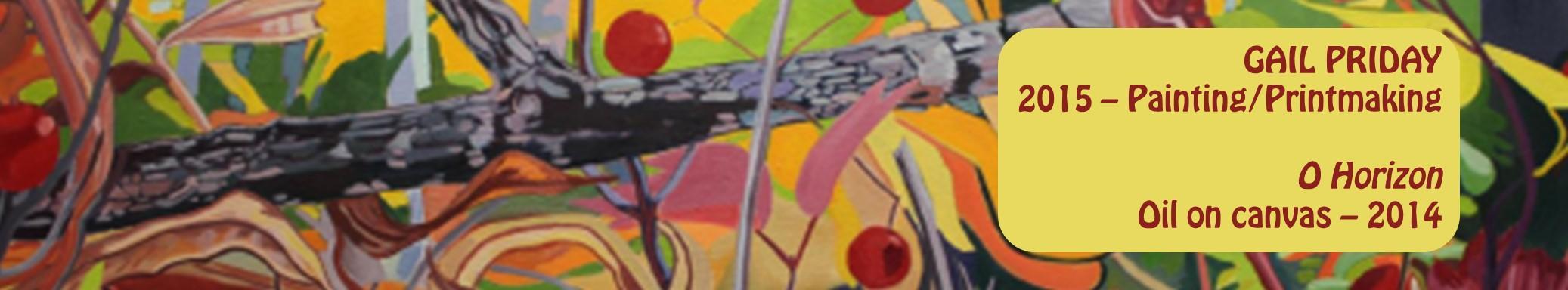Gail Priday - Painting, printmaking - O Horizon - oil on canvas - 2014