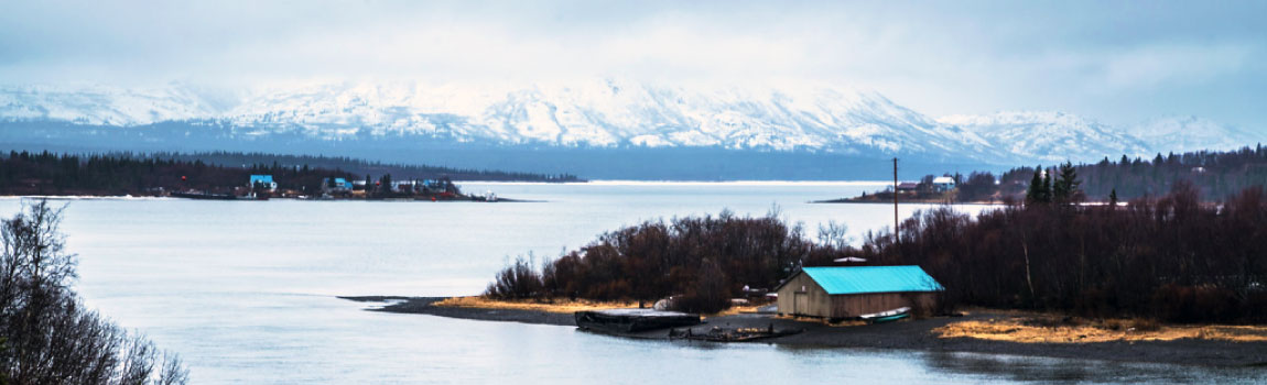 The village of Aleknagik lies at the south end of a lake of the same name, about 15 miles up the Wood River from Dillingham in Alaska's Bristol Bay.