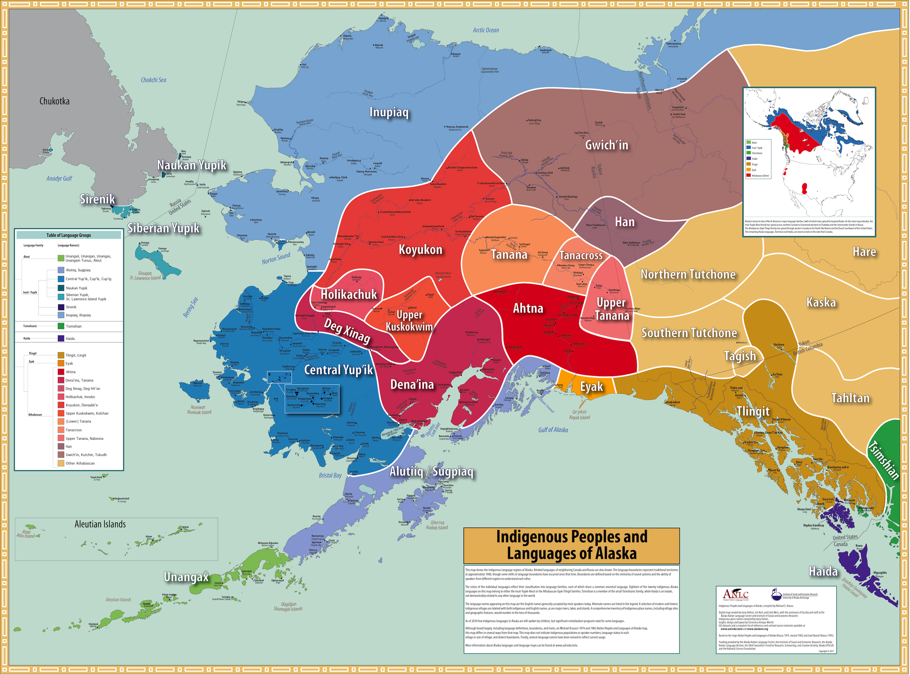 Map Alaska Native Language Archive