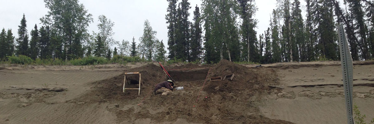 Testing at the Keystone Dune site, Shaw Creek Flats, Alaska