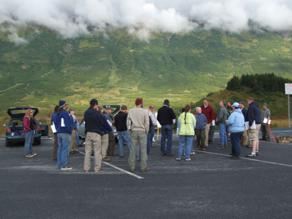 Group photo at begining of Kenai FOP trip.