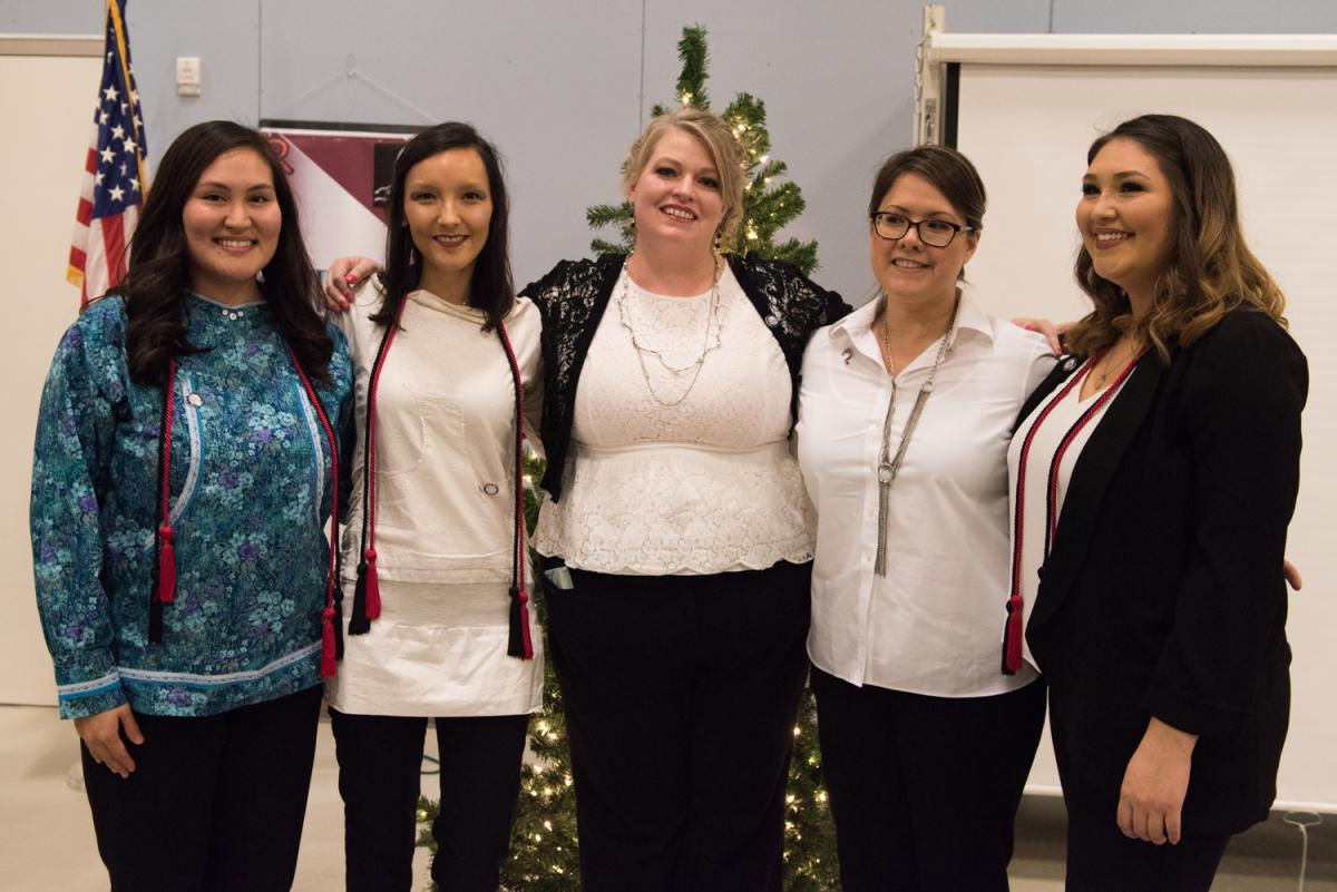 Five women were honored at a pinning ceremony Thursday night, Credit Katie Basile / KYUK