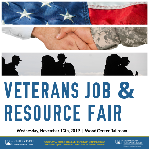 Veterans Job & Resource Fair, November 13th from 4 to 7
