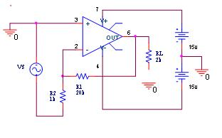 Single pole inverting amplifier