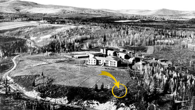 1938 aerial of the campus site