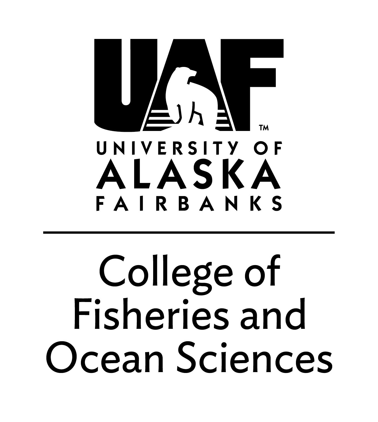UAF College of Fisheries and Ocean Sciences - Black logo