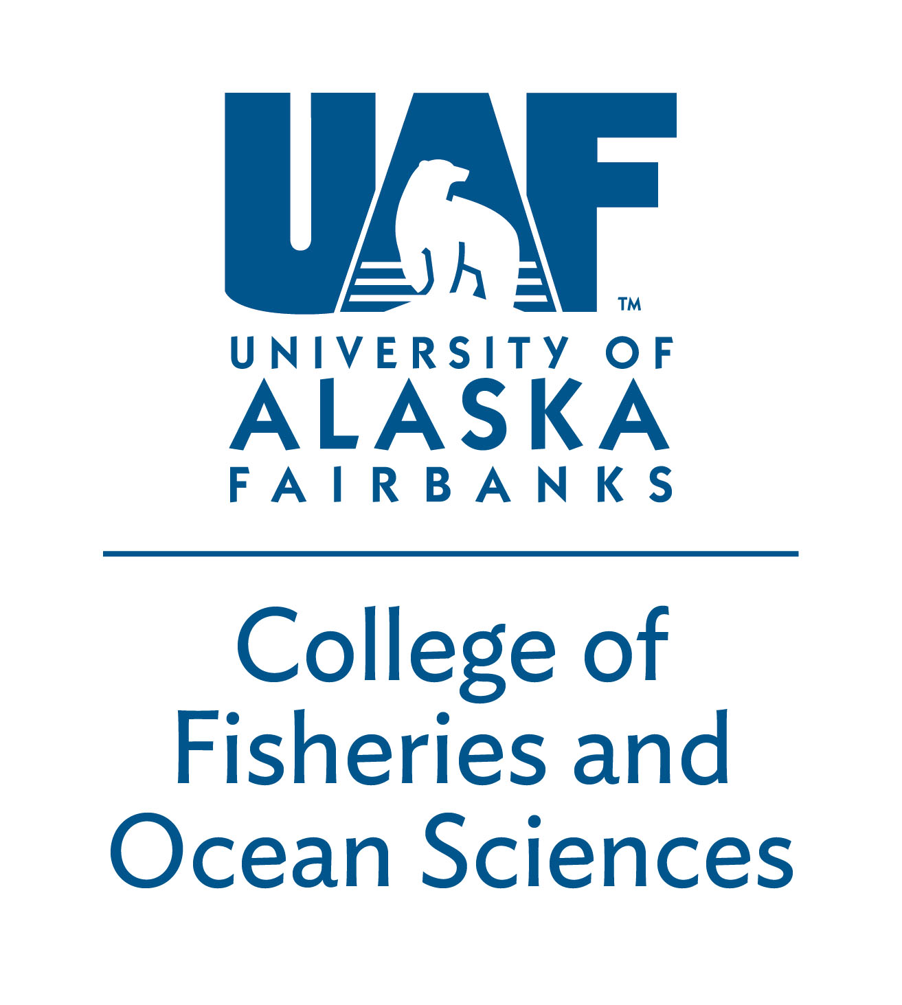 UAF College of Fisheries and Ocean Sciences - Blue logo