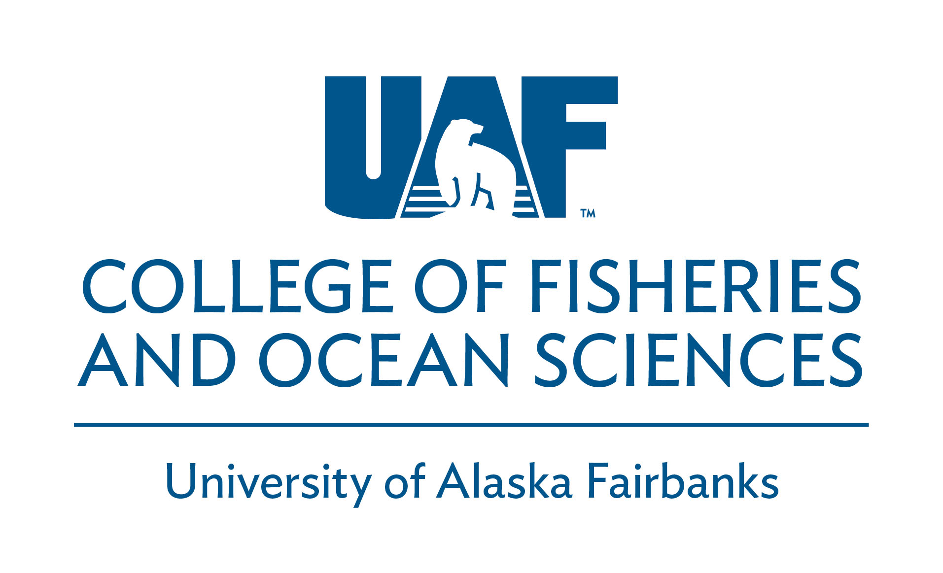 UAF College of Fisheries and Ocean Sciences - Blue Horizontal logo