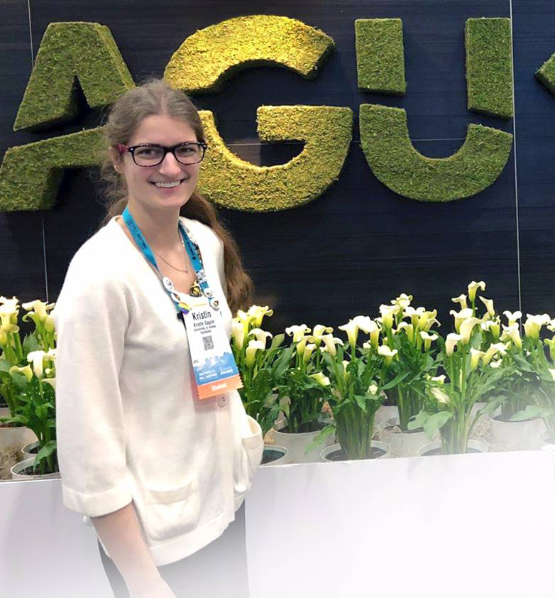 Graduate student at AGU conference