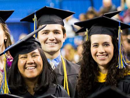 Three UAF graduates at commencement