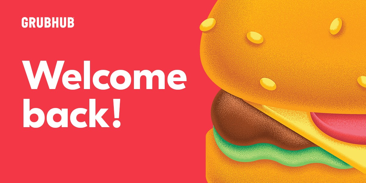 Grub Hub Logo Welcome Back