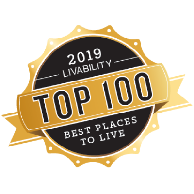 Badge - top 100 places to live