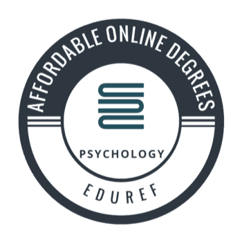 EduRef affordable online degrees badge - psychology