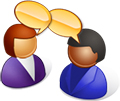 clip art two people talking