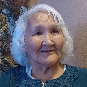 Inupiaq Elder Mary Ahkivgak smiling.