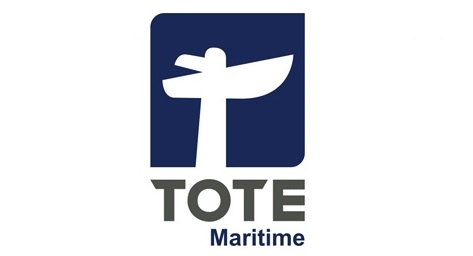Logo of the TOTE Maritime company.
