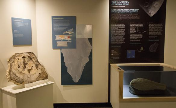 The seal stone is now on display in the Gallery of Alaska at the UA Museum of the North. Visitors to the museum's Open House on Saturday, Jan. 23 can see it for the first time. Photo by Kelsey Gobroski