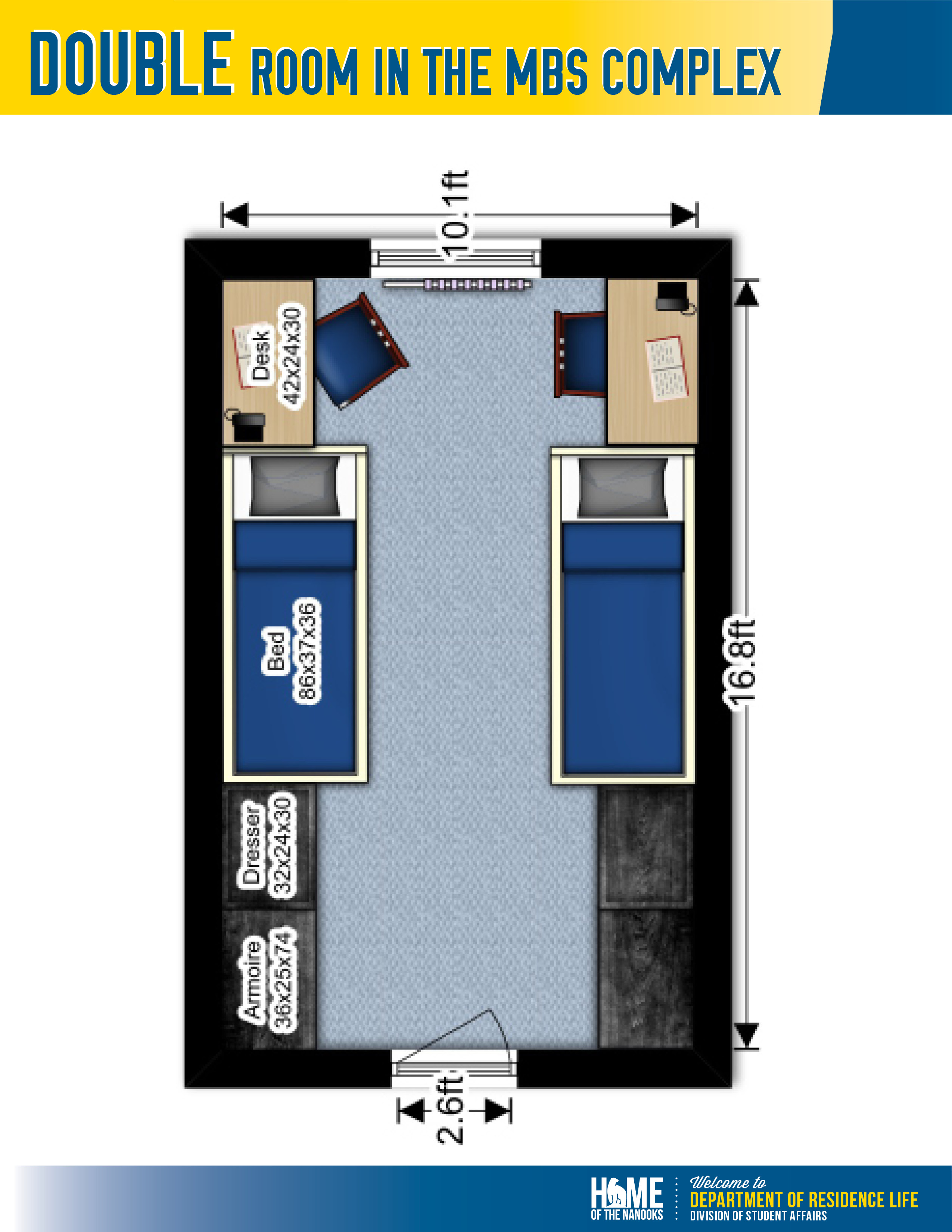 MBS Double room layout.