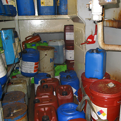 Store your chemicals properply