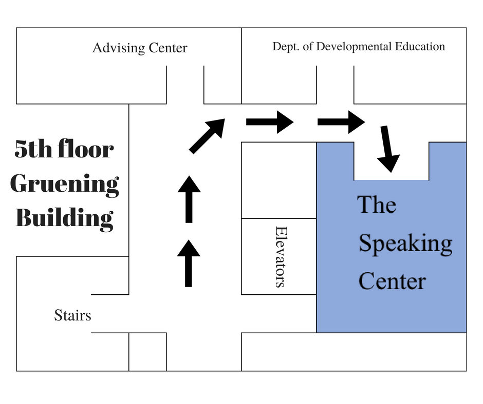 Image map to speaking center