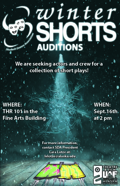 Winter Shorts audition poster.