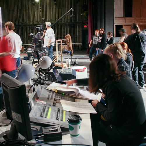 Making a movie on the Salisbury Sound Stage