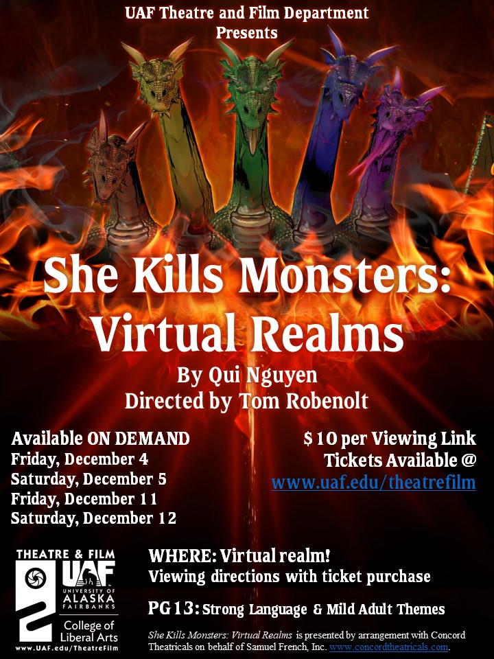 She Kills Monsters auditions announcement