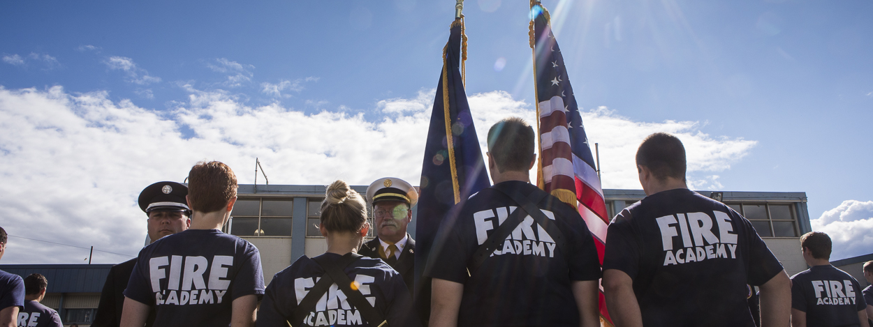 UAF Community and Technical College Fire Academy students
