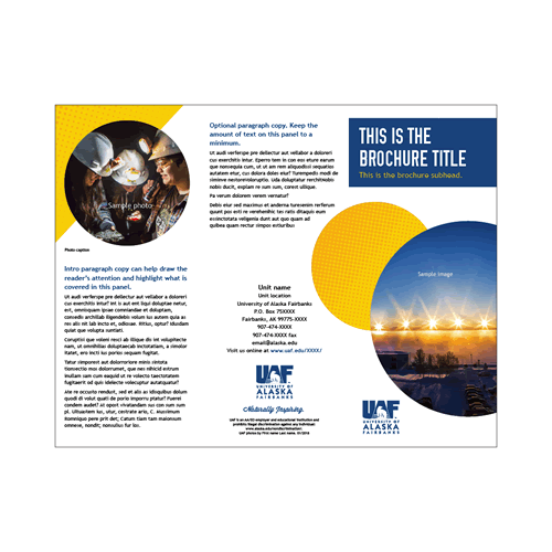 InDesign tri-fold brochure 2