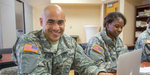 Soldiers stationed at Fort Wainwright have access to college classes through the Education Center on base