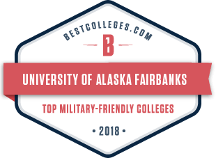 Badge: bestcolleges.com top military-friendly colleges 2018