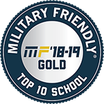 Badge: Military Friendly Top 10 School Gold 2018-2019
