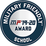 Badge: Military Friendly Top 10 School 2019-2020