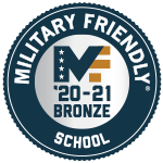 Badge: Military Friendly Top 10 School 2020-2021 Bronze